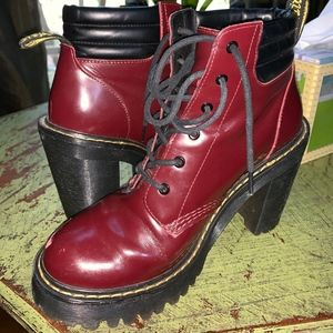 Dr Martens Persephone Heel Boot RED size 7